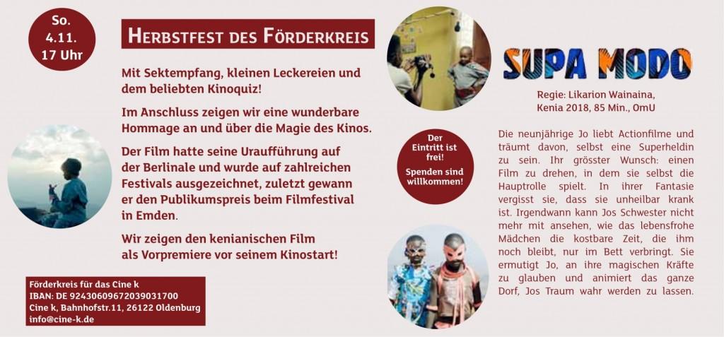 Cine k Flyer Herbstfest 2018-2